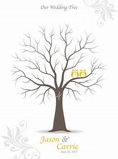 Malvorlage Baum Hochzeit Thumbprint Wedding Tree Guest Book Anniversary Guestbook