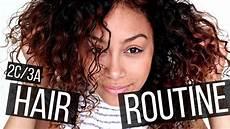 curly hair routine 2c 3a hair wash n go rowan lelievre youtube