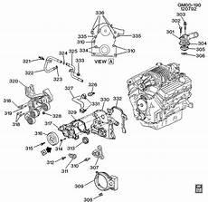98 grand prix engine diagram engine asm 3 8l v6 part 3 front cover and cooling