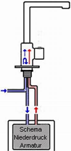 niederdruckarmatur am offenen warmwasserspeicher