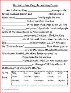 martin luther king jr writing frame freebie by peg hutson tpt