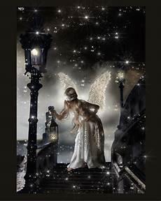 engel bilder mit sprüchen der engel mit verbundenen augen und der sternennacht