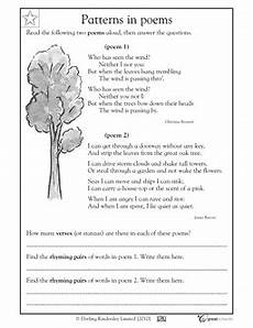 4th grade poetry reading comprehension worksheets 25454 our 5 favorite prek math worksheets third grade reading teaching poetry reading worksheets