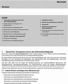 rentenbesteuerung freibetr 228 ge und rechner