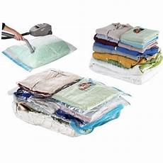 4 sacs housses de rangement sous vide d air 70 gain de