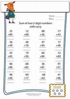 fraction math worksheets 4027 two digit addition with carryover 199 alışma tabloları aritmetik ve matematik
