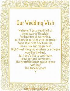 Gift Poems For Weddings