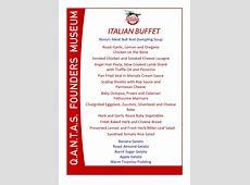 """Italian Night"" Themed Buffet Dinner   Qantas Founders Museum"