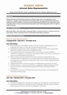 internet sales representative resume sles qwikresume
