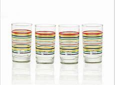 Fiesta Multi Color Stripe Glassware, 7 Ounce Juice Glass