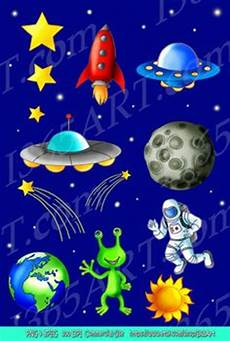 Malvorlagen Rakete Weltraum Adventure Outer Space Adventures Clip Digital