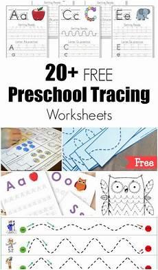 20 free preschool tracing worksheets