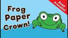 frog paper crown