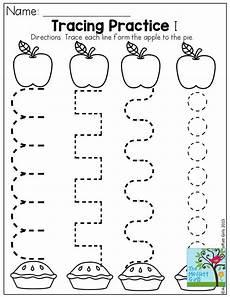 tracing practice and tons of other fun pages for back to school preschool apple crafts