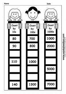 1st grade math worksheet counting by 10 skip counting by 10 100 and 1000 1 worksheet