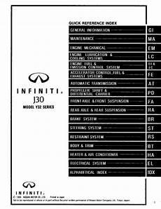 free car repair manuals 1994 infiniti j on board diagnostic system infiniti j30 model y32 series 1995 service manual pdf online download