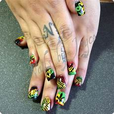 rasta nails vacation nails rasta nails jamaica nails