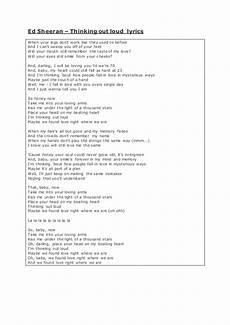 thinking out loud lyrics