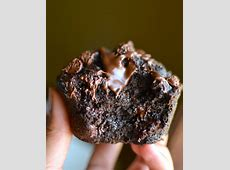double fudge banana muffins brownies_image