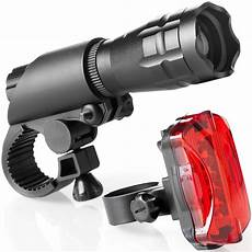 led set led bike light set bright front and rear lights fits