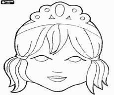Malvorlagen Masken Prinzessin Ausmalbilder Maske Einer Prinzessin Mit Tiara Zum Ausdrucken
