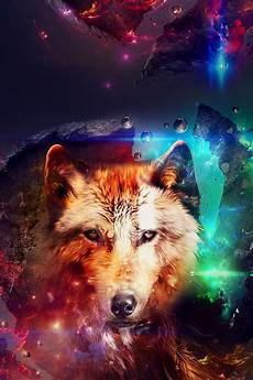 Abstract Wolf Phone Wallpaper