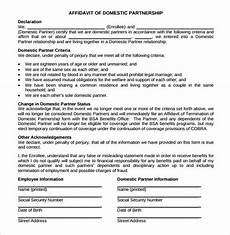 sle domestic partnership agreement 12 free documents in pdf word