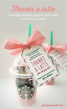 thanks a latte teacher appreciation gift idea with free