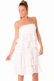 robe bustier blanche 224 volants vetements et