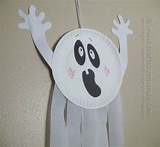 Paper Plate Ghost Crafts By Amanda