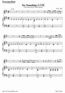 say something full version a great big world stave preview 1 music music violin sheet music