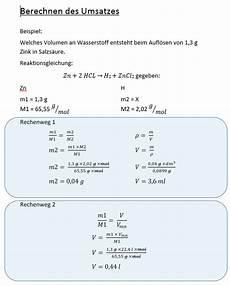 chemie berechnen des umsatzes