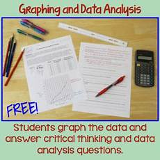 analyzing science data worksheets 12178 graphing and data analysis a scientific method activity by brown science