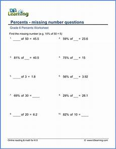 percents worksheets free printable k5 learning