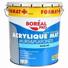 Peinture Acrylique Blanc Mat Pour Murs Et Plafonds Boreal Pro