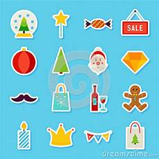 merry christmas stickers stock vector illustration of flat 80135048