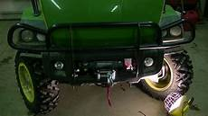 how to mount a warn winch on a deere xuv gator