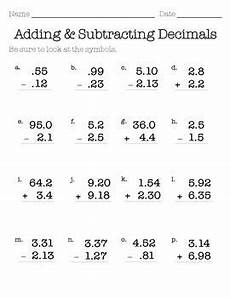 worksheets about addition and subtraction of decimals 7605 decimal addition subtraction ws with images decimals decimals addition subtracting decimals