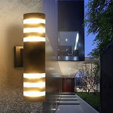 outdoor modern exterior led wall light fixtures porch patio hallway l 2 color ebay