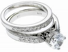 14k white gold diamond engagement ring band