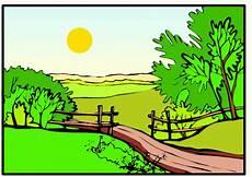 Malvorlagen Landschaften Gratis Landschaft Sonne Ausmalbild Malvorlage Landschaften