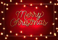 merry christmas poster design garlands free vector