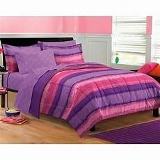 xl full queen bed bag pink purple stripe tie dye 7 pc comforter sheet bed in a bag