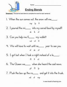 final blends worksheets for 2nd grade ending blends worksheet 2
