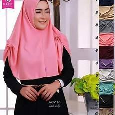 Jilbab Wolfis Tanpa Pet Model Rumana Dengan Renda Kecil