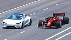 Tesla Roadster Race Formula 1 Car Simulated