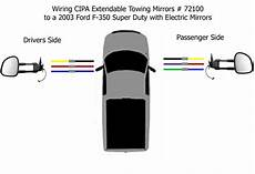 2008 ford f 250 mirror wiring diagram wiring diagram for the cipa extendable towing mirrors 72100 for a 2003 ford f 350 etrailer