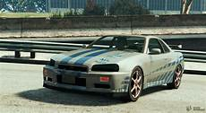 Nissan Skyline R34 Paul Walker 2fast 2furious For Gta 5