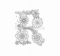 Ausmalbilder Buchstaben R Coloring Page Floral Letters Alphabet R