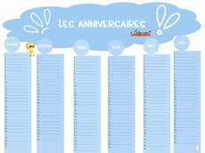 calendrier perpetuel anniversaire personnalisé calendrier perp 233 tuel des anniversaires baby note